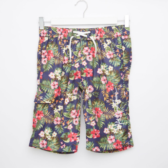 MAUI and Sons Floral Printed Shorts with Elasticised Waistband