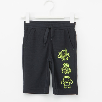 Superhero Printed Shorts with Elasticised Waistband