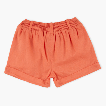 Juniors Embroidered Shorts with Elasticised Waistband