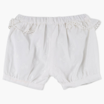 Giggles Frill Detail Shorts with Elasticised Waistband