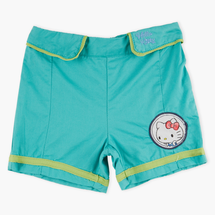 Hello Kitty Embroided Shorts with Elasticised Waistband