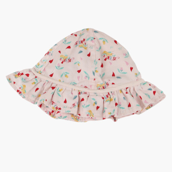 Disney Printed Cap with Frill Detail