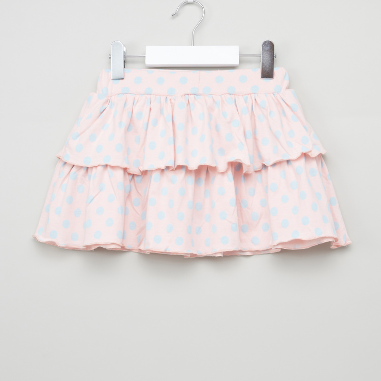 Juniors Printed Skirt with Elasticised Waistband