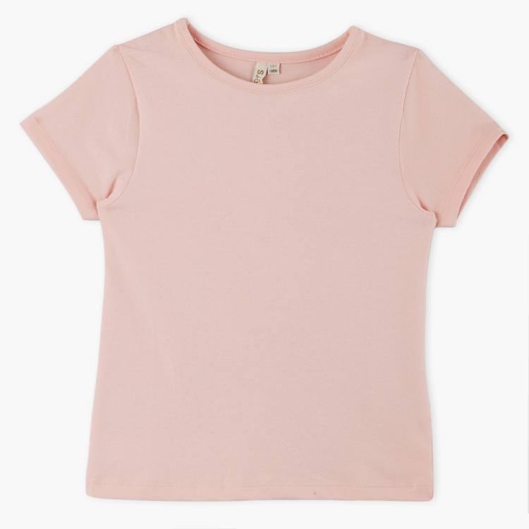 Juniors Short Sleeves Round Neck T-Shirt