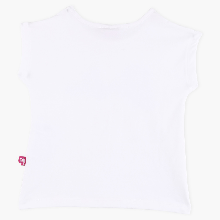 Barbie Sequin Detail Round Neck T-Shirt