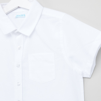 Juniors Short Sleeves Oxford Shirt