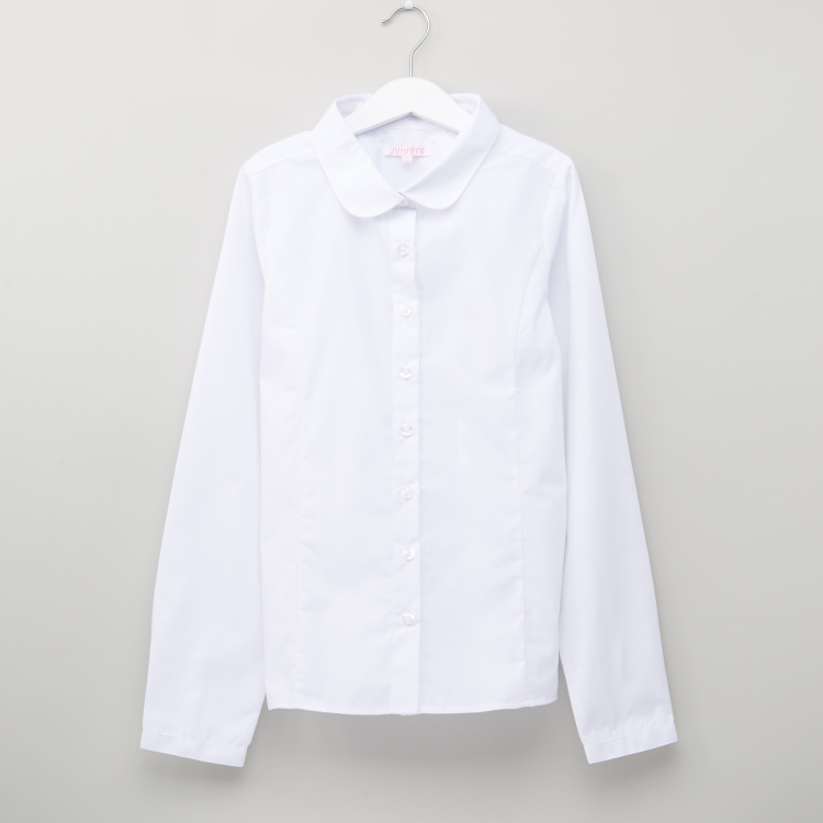 Juniors Long Sleeves Shirt with Complete Placket