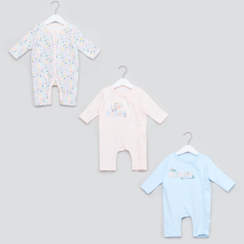Juniors Long Sleeves Open Feet Sleepsuit - Set of 3