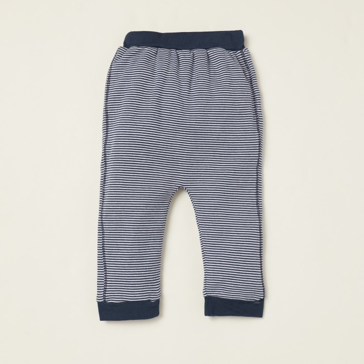 Juniors Embroidered T-shirt and Striped Pyjama Set