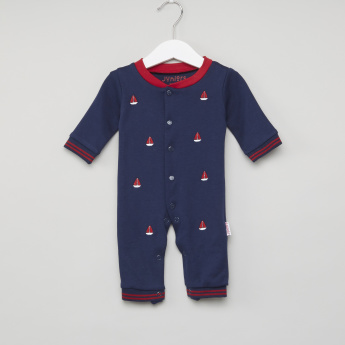 Juniors Sleepsuit with Embroidered Motifs