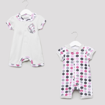 Juniors Printed Short Sleeves Romper - Set of 2