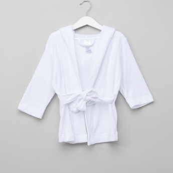 Juniors Textured Hooded Robe