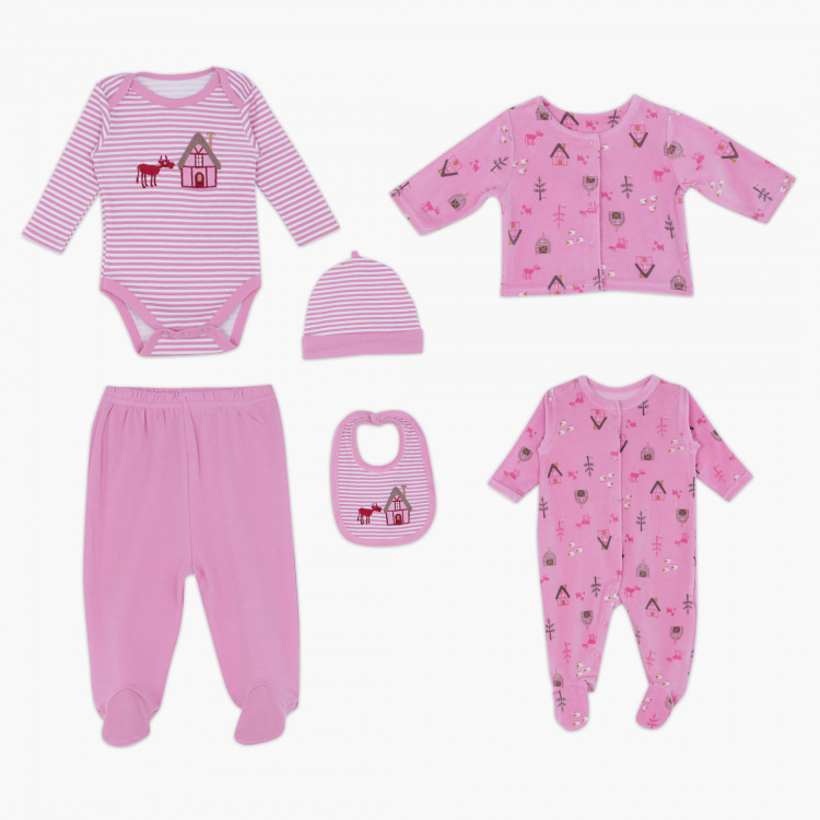 Juniors Printed 6-Piece Apparel Set