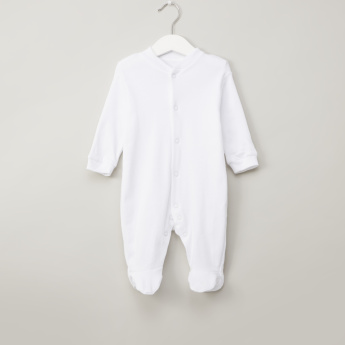 Juniors Closed Feet Solid Sleepsuit with Long Sleeves - Set of 2