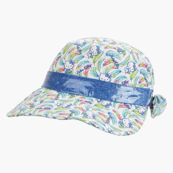 Hello Kitty Printed Bucket Hat with Bow Detail