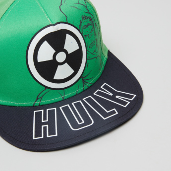 Hulk Printed Baseball Cap with Hook and Loop Closure