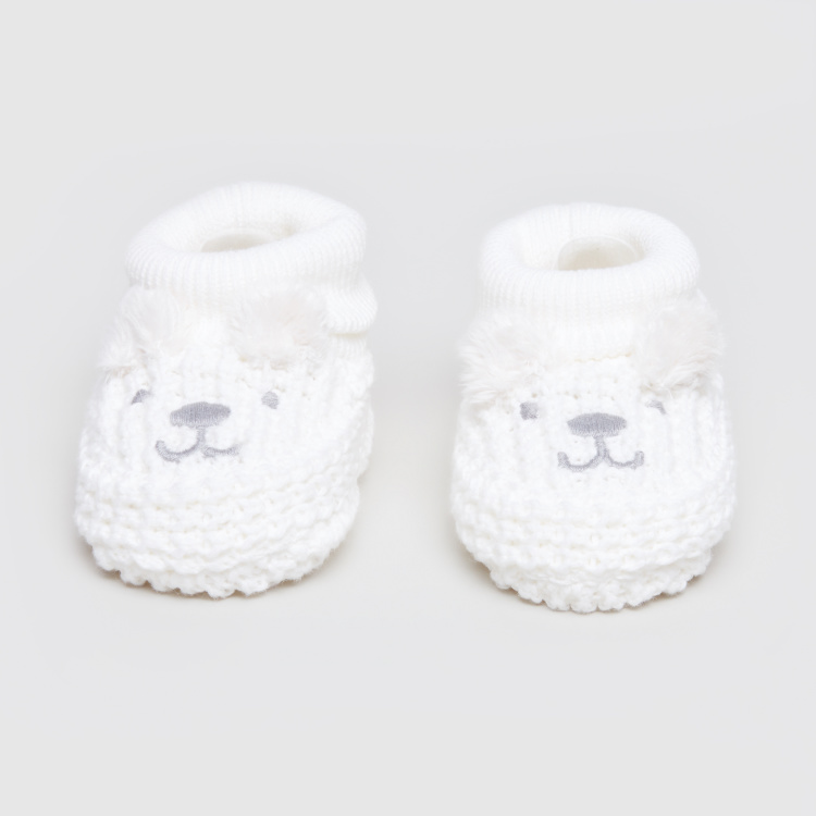Juniors Embroidered Beanie Cap with Booties