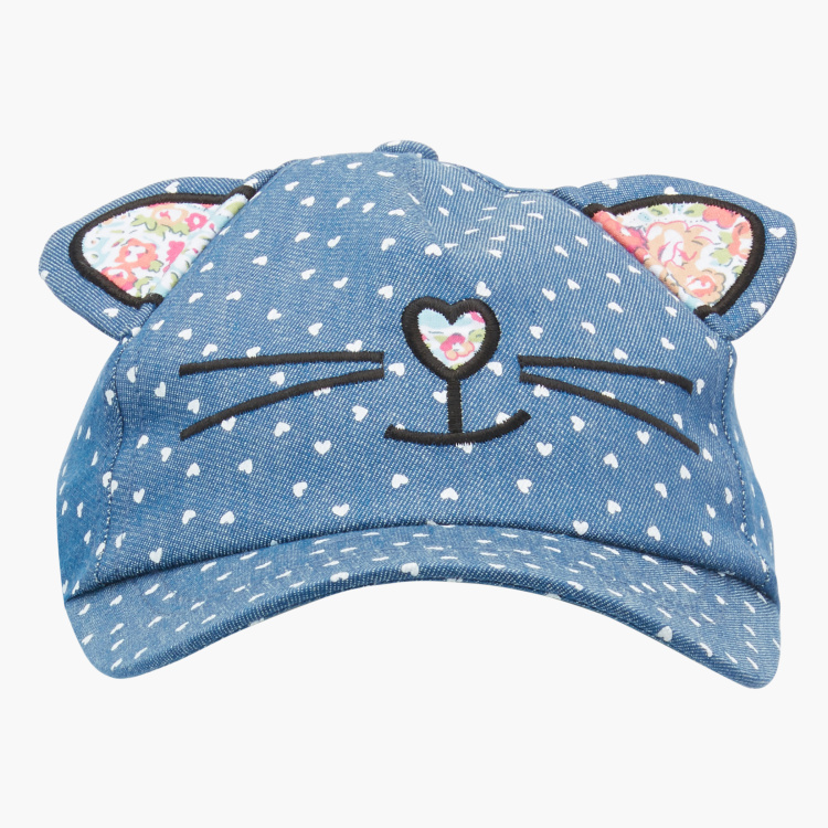 Juniors Embroidered Cap with Ears