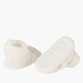 Juniors Textured Booties with Ear Detail