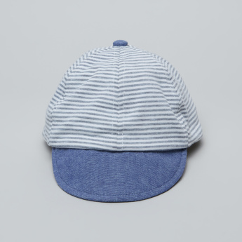 Juniors Striped Cap with Hook and Loop Closure