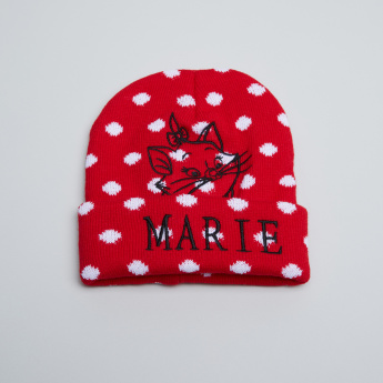 Marie Embroidered Beanie Cap