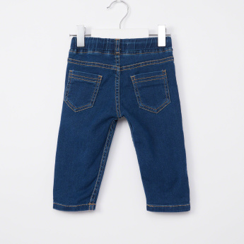 Juniors Full Length Jeans with Pocket Detail and Drawstring