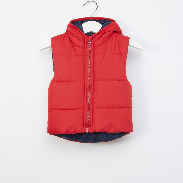 Juniors Sleeveless Gillet With Hood