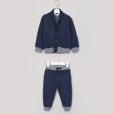 Juniors Long Sleeves Cardigan with Jog Pants