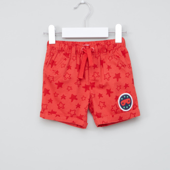 Juniors Stars Printed Shorts with Elasticised Waistband