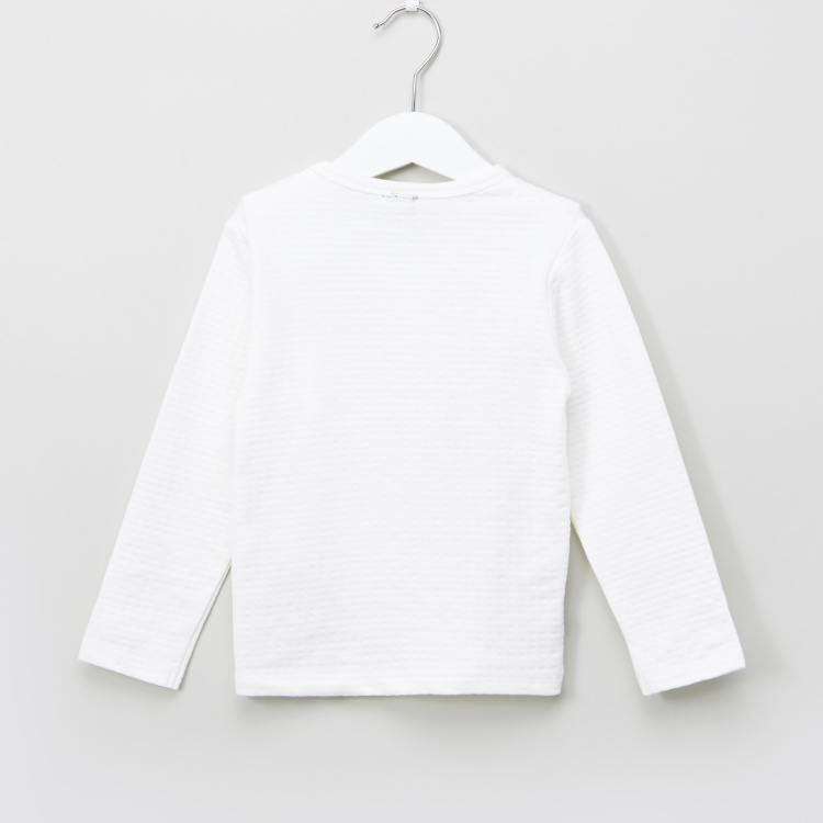Chest Pocket Detail Long Sleeves T-Shirt