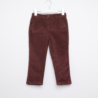 Giggles Pocket Detail Pants with Button Closure