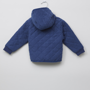 Giggles Quilted Long Sleeves Button Through Jacket
