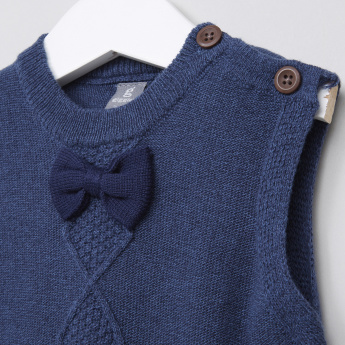 Giggles Sleeveless Bow Detail Sweater