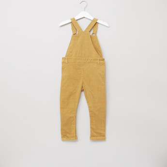 Giggles Printed T-Shirt with Cord Dungarees