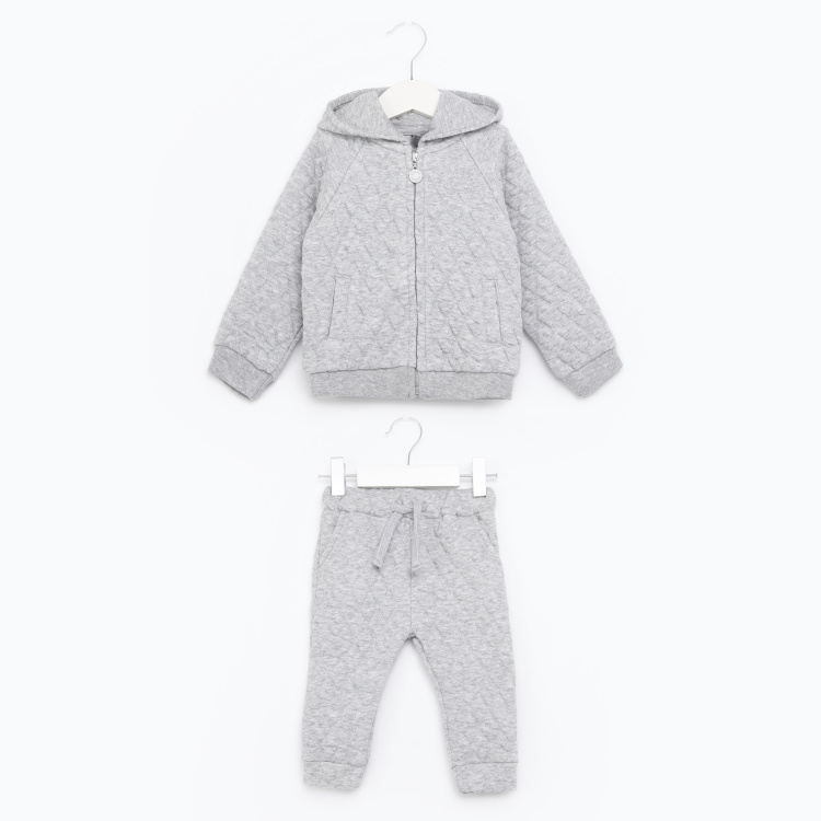 Giggles Sweatshirt with Hoodie and Joggers Set