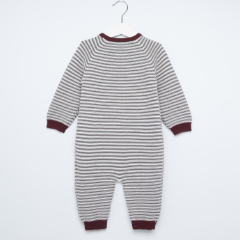 Giggles Striped Long Sleeves Romper