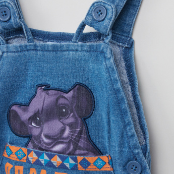 Simba Printed T-Shirt with Dungarees