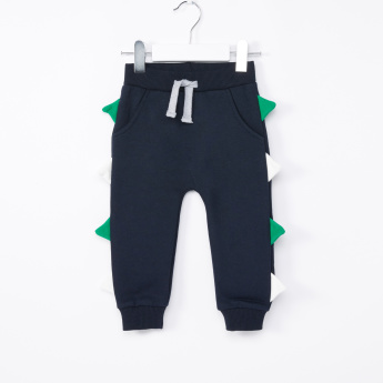 Juniors Jog Pants with Applique Detail and Pockets