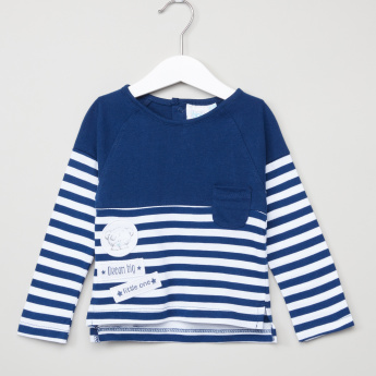 Carte Blanche Graphic T-Shirt with Stripes