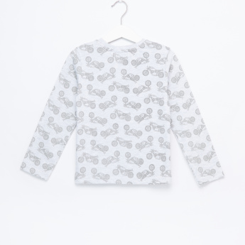 Graphic Printed Long Sleeves T-Shirt - Set of 2