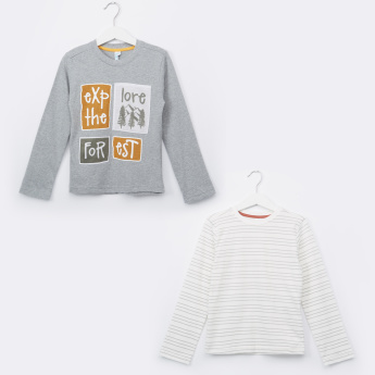 Juniors Long Sleeves Round Neck T-Shirt - Set of 2