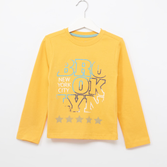 Juniors Graphic Printed Long Sleeves T-Shirt
