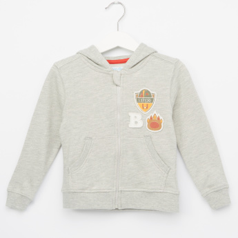 Juniors Embroidered Applique Detail Jacket