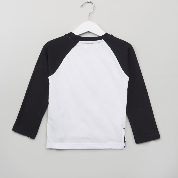 Juniors Raglan Sleeve Graphic T-Shirt