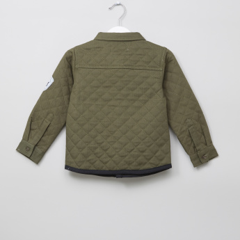 Juniors Quilted Long Sleeves Shacket