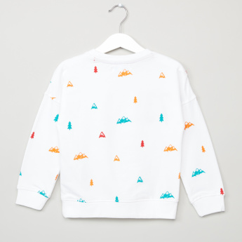 Juniors Printed Long Sleeves Pullover
