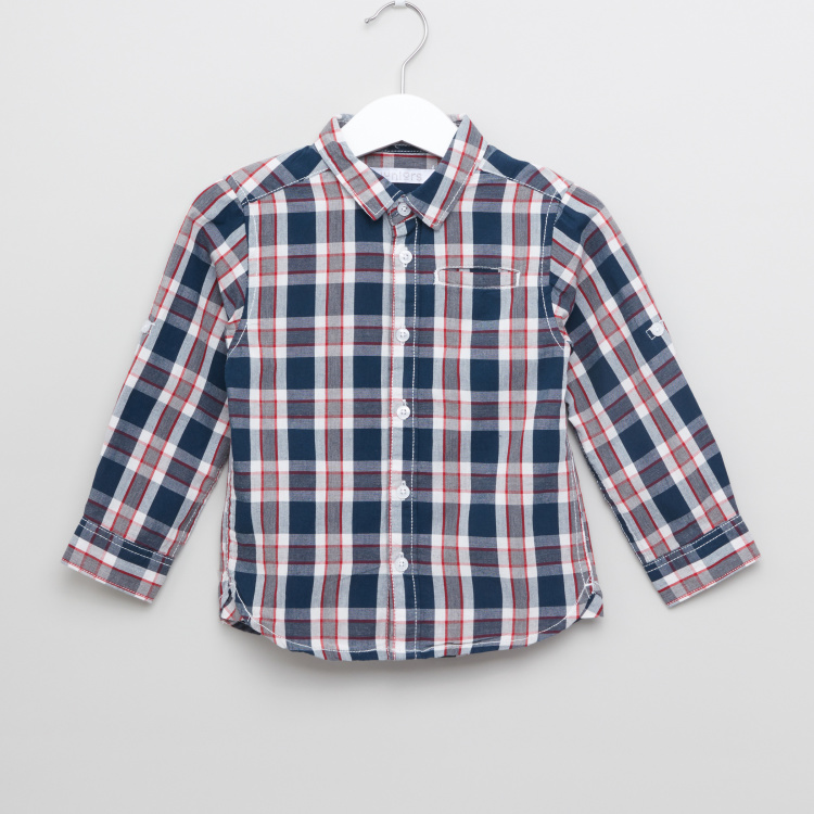 Juniors Chequered Long Sleeves Shirt