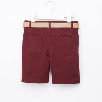 Juniors Shorts with Belt