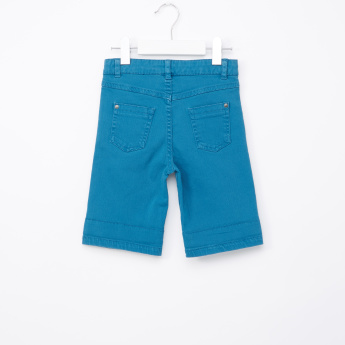 Juniors Shorts with Pocket Detail and Button Closure