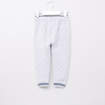 Eligo Quilted Jog Pants with Elasticised Waistband and Drawstring